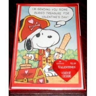 Hallmark Peanuts Gang & Snoopy Box of VALENTINE CARDS   Peppermint