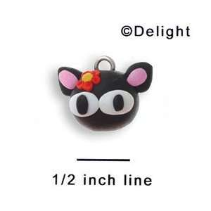 FM1001+ tlf   Cute Kitty   3 D Fimo Charm: Home & Kitchen