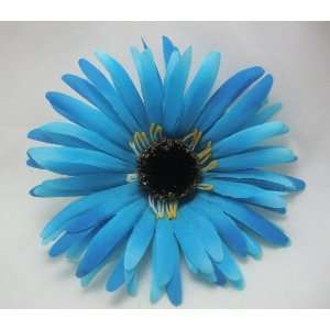 NEW Turquoise Blue Daisy Flower Hair Clip, Limited