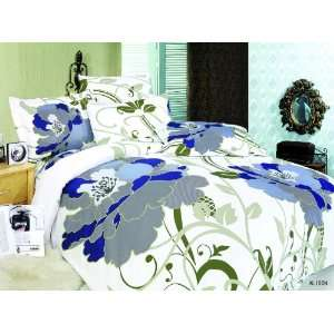 Piece Set with Fitted Sheets, Dimensional Floral Prints, White: Home