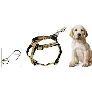 Como Black Cartoon Dog Nylon Pulling Harness Leash Rope