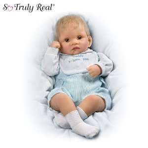 Touch Activated Realistic Baby Doll: Kyle Kisses Doll: Toys & Games