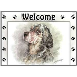 English Setter Welcome Sign Patio, Lawn & Garden