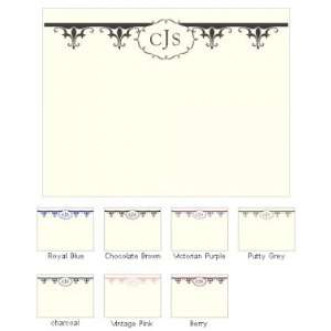 Fleur De Lis Blank Note Cards (Set of 6   7 Colors