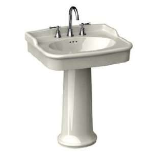 Porcher 20128 00.071 Biscuit Savina Savina 27 Fire Clay Pedestal Sink