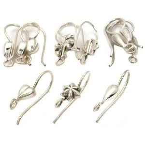 Silver Heart Bead Fish Hook Earrings Approx 12