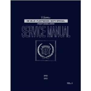 1992 1993 CADILLAC 60 DEVILLE FLEETWOOD Service Manual Automotive