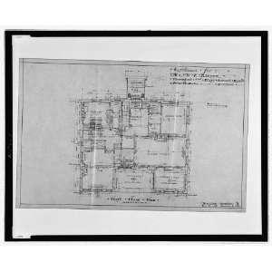 House,Floor Plan,WE Barker,Piney Branch Road,DC,1916