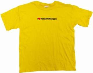 I Heart (Love) Fried Chicken Kids T Shirt In 5 Colors 2T