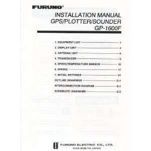 Furuno GP1600F GPS/Plotter/Sounder Installation Manual