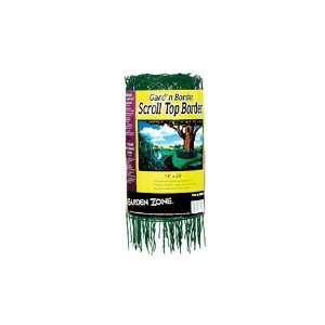 Garden Zone 331420 Scroll Top Rolled Garden Border, 14 x