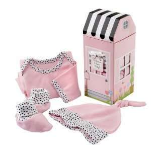 Home Baby 3 Piece Layette Set in Keepsake Gift Box (Pink) Baby
