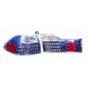 317 1328FXAS7C Honda Accord Sedan Gun Metal LED Tail Light Automotive