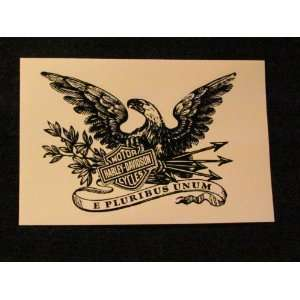 HARLEY   DAVIDSON MOTORCYCLES Eagle DECAL   (Black