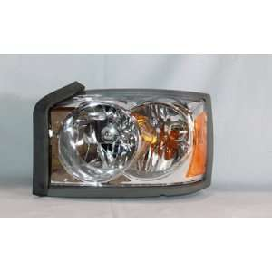 PICK UP HEADLIGHT LEFT (DRIVER SIDE) (CHR BEZEL) 2006 2007 Automotive