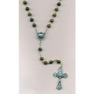 Mens Rosary with Sacred Heart Center 6mm