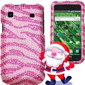 Mobile)   Bling Zebra Skin (Pink/Hot Pink) Crystal
