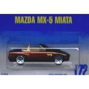 Mattel Hot Wheels 1991 164 Scale Maroon Mazda MX 5 Miata Die Cast Car