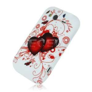RED HEARTS SILICONE GEL SKIN CASE FOR HTC WILDFIRE S Electronics