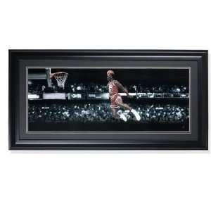 Michael Jordan Chicago Bulls   Gatorade Slam Dunk   30x12 Framed