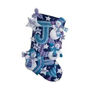 Bucilla Joy Snowmen Stocking Felt Applique Kit 18 Long