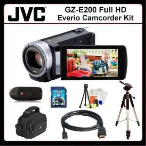 JVC GZ E200 Everio Camcorder Kit Includes JVC GZE200 Camcorder (Black