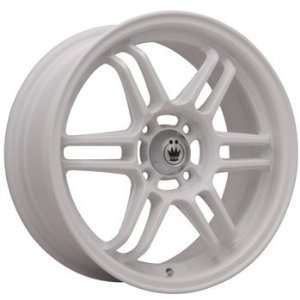 Konig Lightspeed 15x7.5 White Wheel / Rim 4x100 with a 32mm Offset and