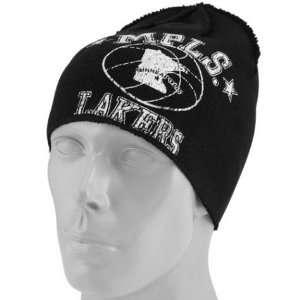 Mens Los Angeles Lakers Big Logo Knit Beanie Sports