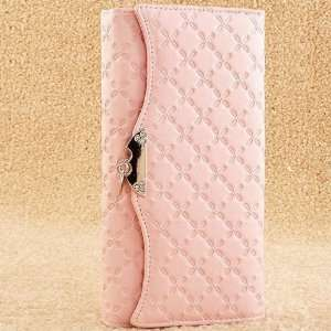Ladies High Quality Soft Pink Leather Purse