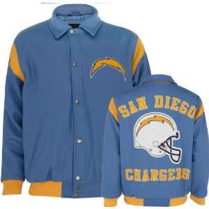 San Diego Chargers Team Color Wool Varsity Jacket Sports & Outdoors