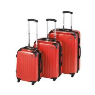 SideWinder 3 Piece Expandable Spinner Luggage Set Color Red Clothing
