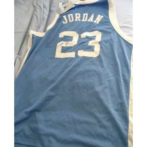 Michael Jordan autographed North Carolina throwback Nike jersey