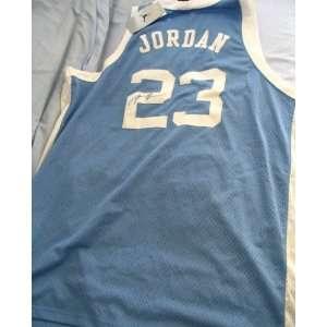 Michael Jordan autographed North Carolina throwback Nike jersey