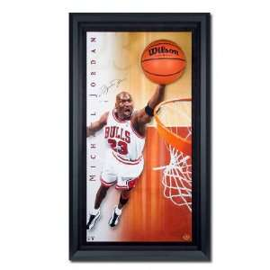 Michael Jordan Chicago Bulls  Breaking Through  Framed