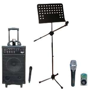 Microphone   PMSM9 Heavy Duty Tripod Microphone And Music Note Stand