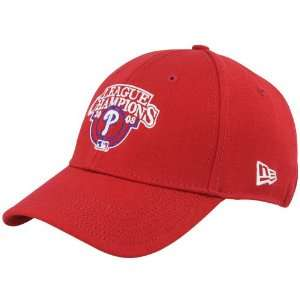 Phillies Red 2008 MLB National League Champions 39THIRTY Flex Fit Hat