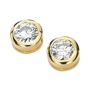 Gold 1 ct. Created Moissanite Earring Studs Puresplash Jewelry