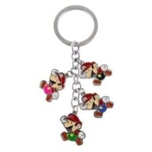 Super Mario Bros. 4 in 1 Charm Keychain Holder Automotive