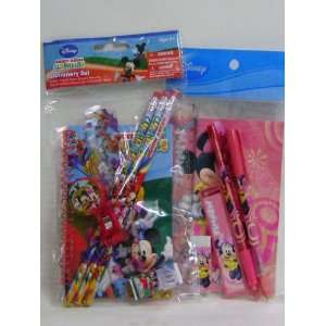 Mickey & Minnie Mouse Clubhouse Stationery Set of 2