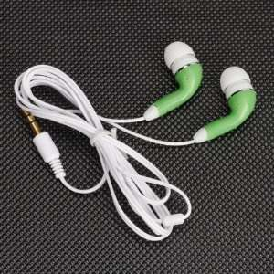 Headphone Headset for  Mp4 Phone PC   White and Green Electronics