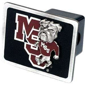 State Bulldogs NCAA Pewter Trailer Hitch Cover