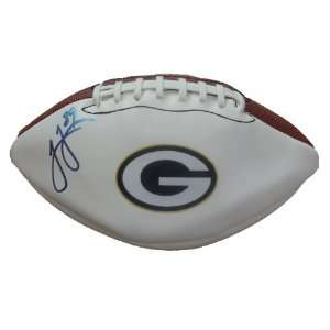 James Jones Autographed Green Bay Packers Logo Football W