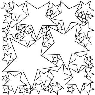 Colorful Stars Peel & Stick Wall Stickers / Decals / Appliques, Black