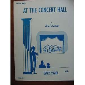 At The Concert Hall Piano Solo (Pro Pn 389) Earl Ricker