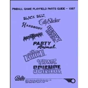 1987 Bally Pinball Machine Coin Op Game Parts Manual