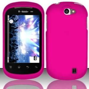 Rubberized rose pink design phone case for the LG