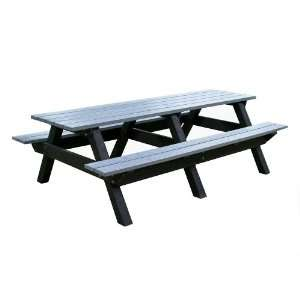 Polly Products 8 Recycled Plastic Picnic Table Patio, Lawn & Garden