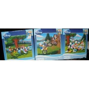Set of 3 Disney Mickey Mouse 63 Pc. Puzzle playground