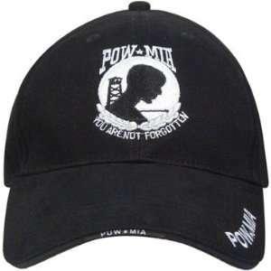 Rothco Black POW/MIA Deluxe Low Profile Cap Sports