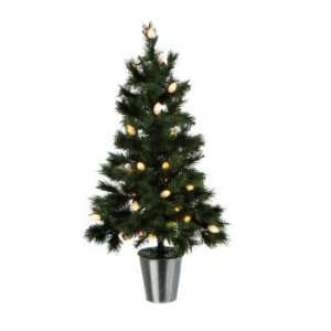 3 Pre Lit Green Pine Artificial Christmas Tree   Frosted